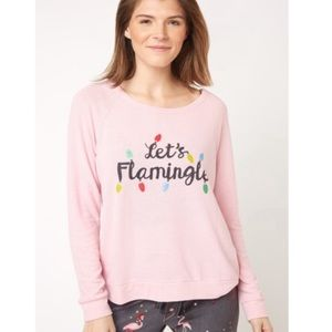 PJ Salvage | Let's Flamingle Pullover Top NWT M